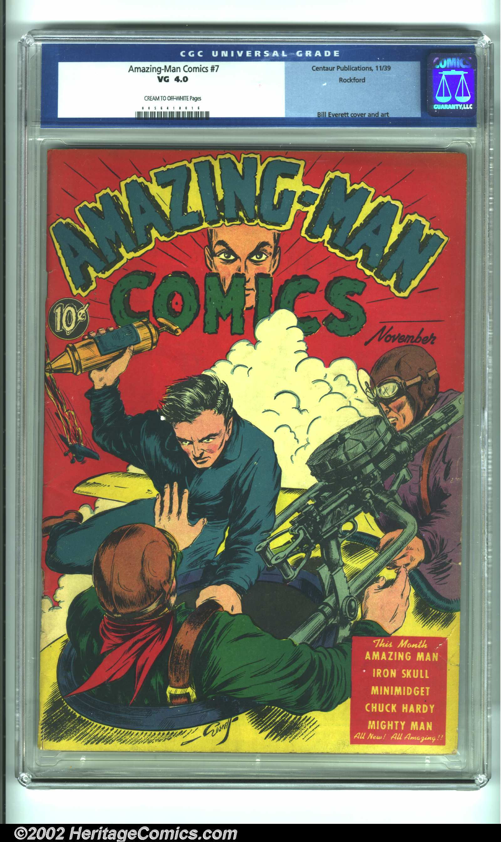 Amazing Man Comics 7 Centaur CGC VG 40 Cream To Off White Pages Rockford Uploaded On 01 22 2011